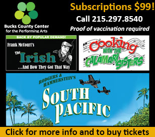 2021 season subscriptions on sale for $99! Proof of vaccination required for admission to all shows. Please call for handicapped seats.