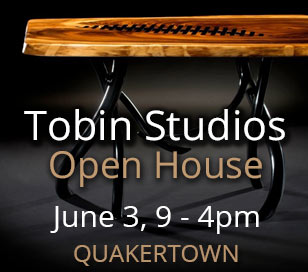 Tobin Studios, the Quakertown home of world renowned artist Steve Tobin, is having an Open House! The studio will be open to tour, while works of all kinds from the studio artists will be for sale. Glass, metal, wood, fabric, ceramics and painting will all be available. This is for one day only, Saturday, June 3rd from 9-4. Come one come all!