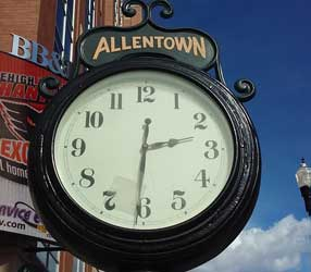 Clock in Allentown, Lehigh Valley, PA