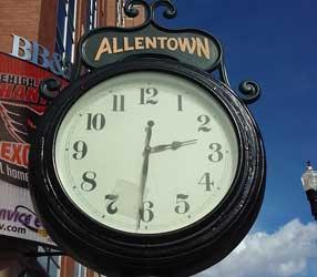Clock in Allentown, Lehigh Valley, PA