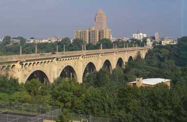 Albertus L. Meyers Bridge in Allentown, PA Lehigh Valley